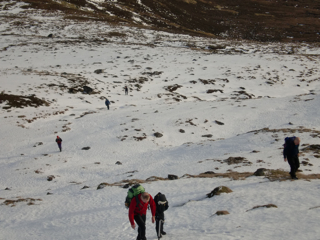 Walking up Geal Charn