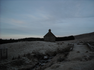 The bothy in the frost