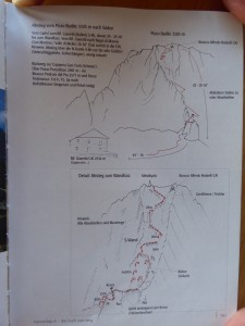 There was also a rough topo for the descent, which was a mixture of scrambling and abseiling