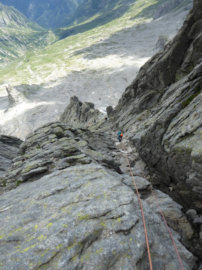 The descent consisted of a few abseils, interspersed with scrambling on sometimes quite loose & chossy rock