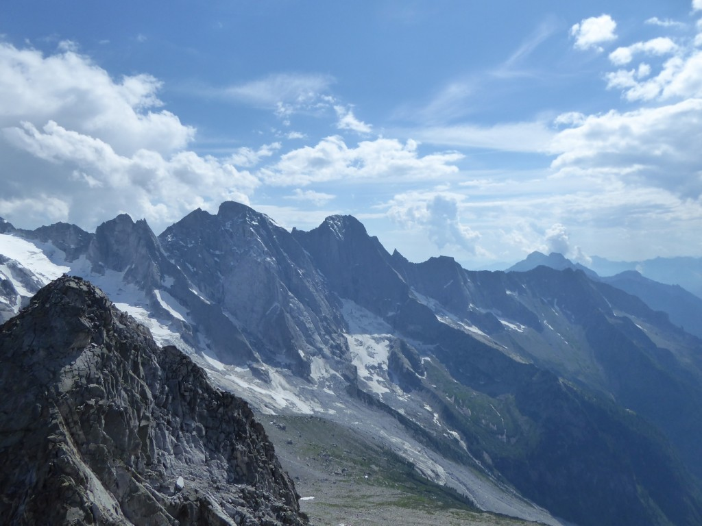 We got our first view of the Piz Badile from the summit