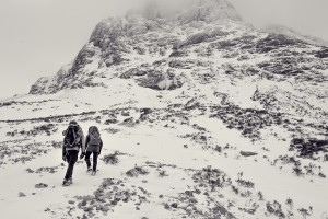 John and Andrew on the approach to Crowberry Gully