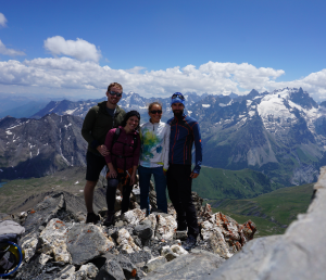 The YMC team on the summit of Aiguille de Goleon