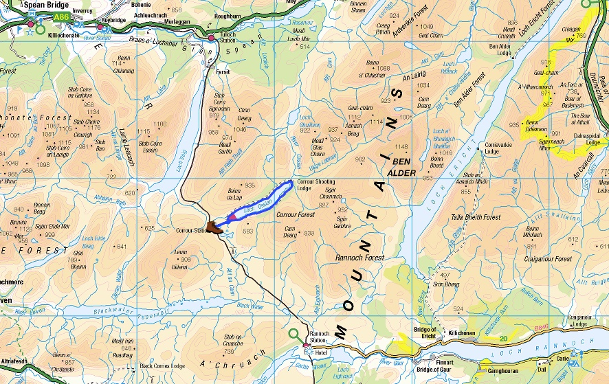 Corrour-map