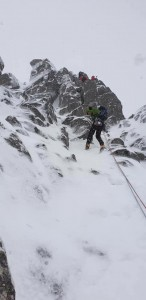 Abseiling down a Cha-No buttress