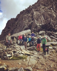 The team on Tryfan