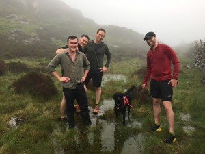 Saturday morning trail run - Harry in Wellies!