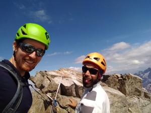 Antoine and Andrew finally summitting
